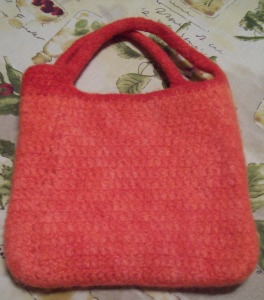 July 2016- Felted Purse